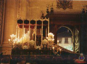 Virgen de Gracia en la Catedral, 75 aniv. Agrupación de Cofradías, 1996.