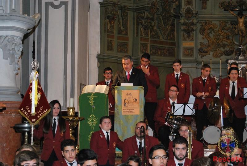 Concierto Banda de Música de Zamarrilla, Iglesia de Santiago, febrero de 2014.