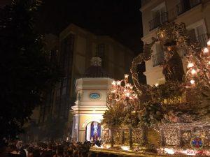 Virgen de la Victoria en la capilla de calle Agua, 2016.