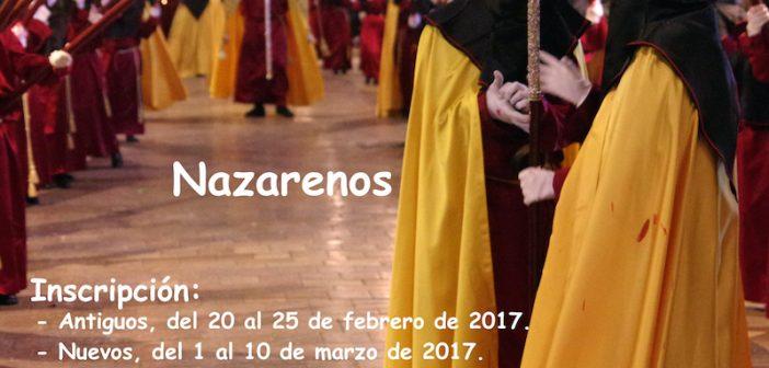 Inscripción para la salida procesional 2017