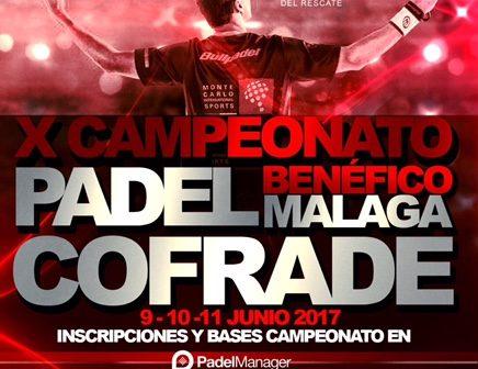 """Cuadros de competición X Campeonato de pádel """"Málaga Cofrade"""""""