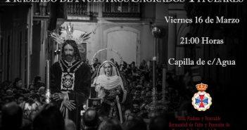 Traslado de nuestros Sagrados Titulares a sus tronos procesionales