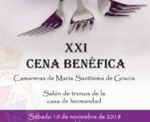 Las camareras de la Virgen de Gracia organizan la XXI edición de la cena benéfica
