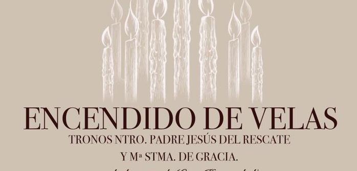 Reparto de puestos y encendido de velas de los tronos procesionales
