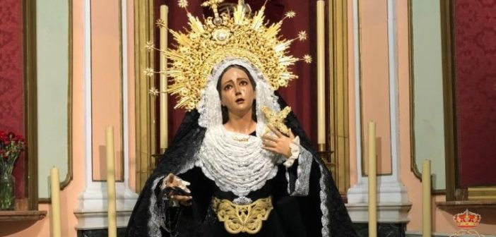 María Santísima de Gracia, ataviada de luto por el día de los Difuntos