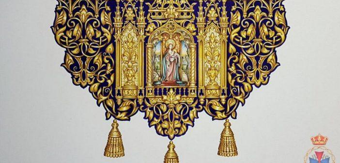 Iniciados los trabajos de bordado de los nuevos paños de bocina de la sección de la Virgen de Gracia