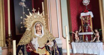 Altar en la Capilla con motivo de la festividad del Corpus Christi