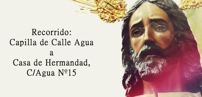 Traslado de Jesús del Rescate a su trono procesional